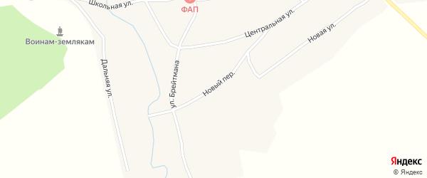 Новый переулок на карте села Комарово с номерами домов