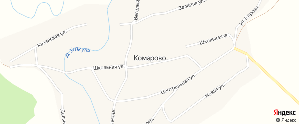 Веселый переулок на карте села Комарово с номерами домов