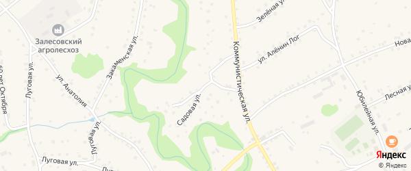 Садовая улица на карте села Залесово с номерами домов