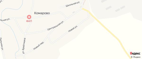 Новая улица на карте села Комарово с номерами домов