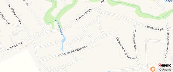 Социалистический переулок на карте села Залесово с номерами домов