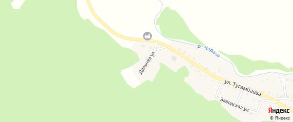 Дальняя улица на карте села Усть-Кана с номерами домов