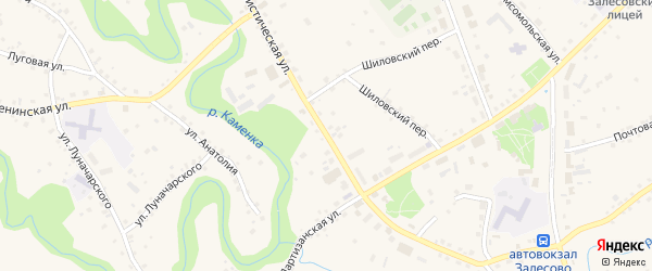 Коммунистическая улица на карте села Залесово с номерами домов