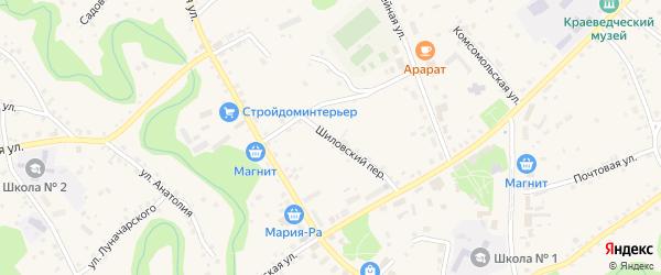 Шиловский переулок на карте села Залесово с номерами домов