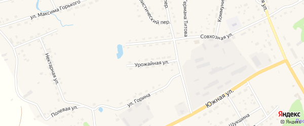 Урожайная улица на карте села Залесово с номерами домов