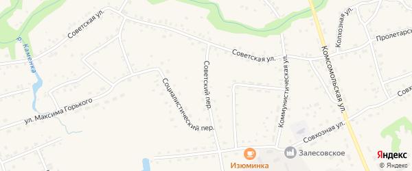 Советский переулок на карте села Залесово с номерами домов