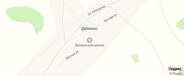 Лесная улица на карте села Демино с номерами домов