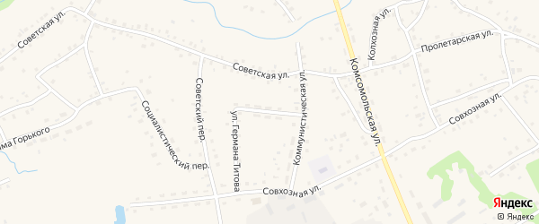 Улица Германа Титова на карте села Залесово с номерами домов