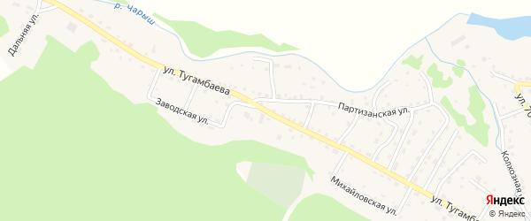 Улица Тугамбаева на карте села Усть-Кана с номерами домов