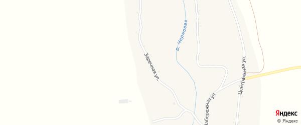 Заречная улица на карте села Черновой с номерами домов
