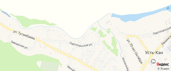 Морской переулок на карте села Усть-Кана с номерами домов