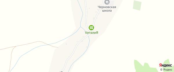 Центральная улица на карте села Черновой с номерами домов
