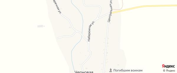 Набережная улица на карте села Черновой с номерами домов