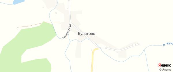 Центральная улица на карте села Булатово с номерами домов