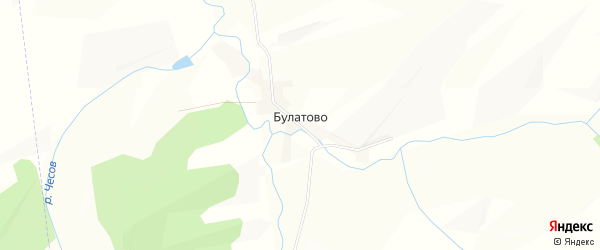 Карта села Булатово в Алтайском крае с улицами и номерами домов