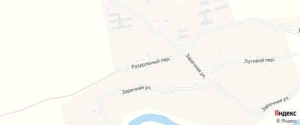 Раздольный переулок на карте села Сычевки с номерами домов