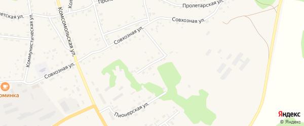 Пионерская улица на карте села Залесово с номерами домов