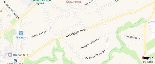 Октябрьская улица на карте села Залесово с номерами домов