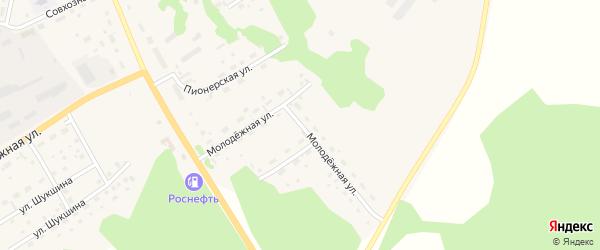 Молодежная улица на карте села Залесово с номерами домов