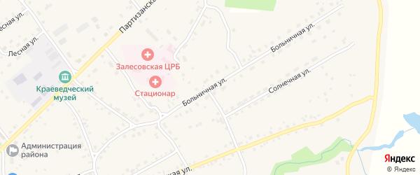 Больничная улица на карте села Залесово с номерами домов