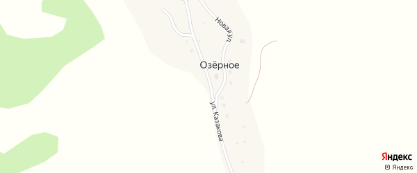 Улица Казакова на карте Озерного села с номерами домов