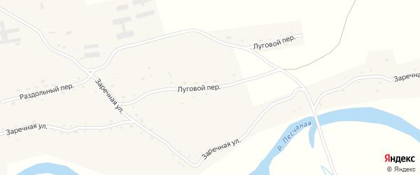 Луговой переулок на карте села Сычевки с номерами домов