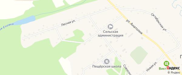 Кооперативная улица на карте села Пещерки с номерами домов