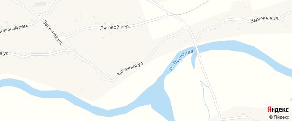 Заречная улица на карте села Сычевки с номерами домов