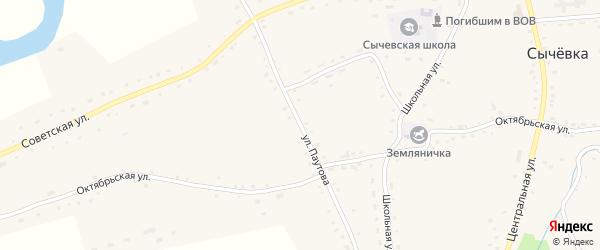Улица Паутова на карте села Сычевки с номерами домов