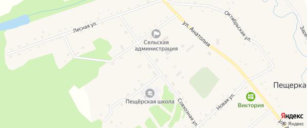 Совхозная улица на карте села Пещерки с номерами домов