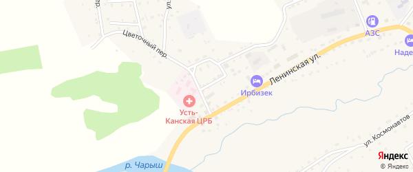 Юбилейная улица на карте села Усть-Кана с номерами домов