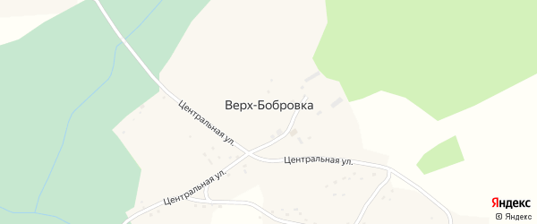 Центральная улица на карте села Верха-Бобровки с номерами домов
