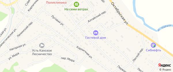 Первомайская улица на карте села Усть-Кана с номерами домов