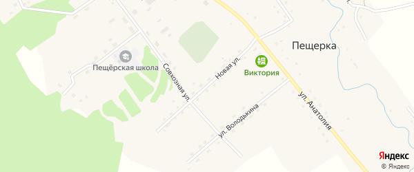Новая улица на карте села Пещерки с номерами домов