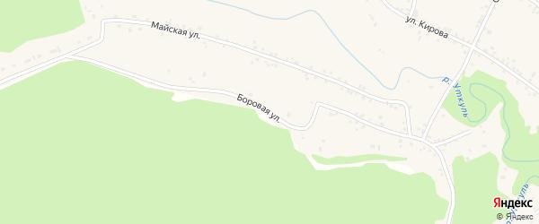 Боровая улица на карте села Соколово с номерами домов