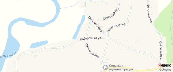 Песчаный переулок на карте села Сычевки с номерами домов