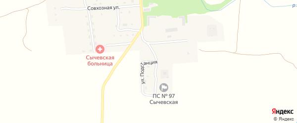 Улица Подстанция на карте села Сычевки с номерами домов