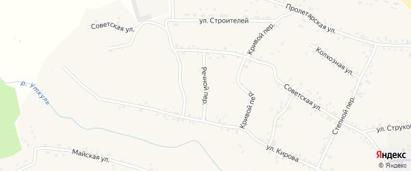 Речной переулок на карте села Соколово с номерами домов