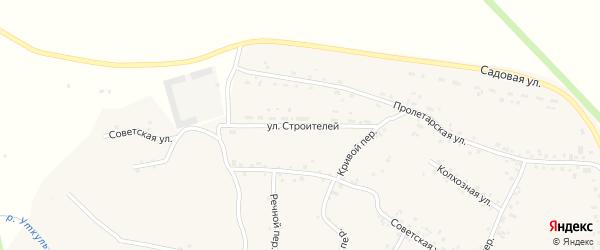 Улица Строителей на карте села Соколово с номерами домов