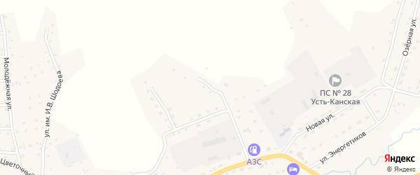 Улица Дорожников на карте села Усть-Кана с номерами домов