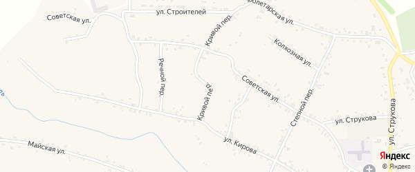 Кривой переулок на карте села Соколово с номерами домов