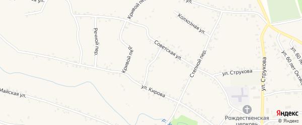 Почтовый переулок на карте села Соколово с номерами домов