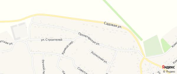 Пролетарская улица на карте села Соколово с номерами домов