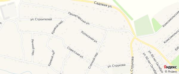 Колхозная улица на карте села Соколово с номерами домов