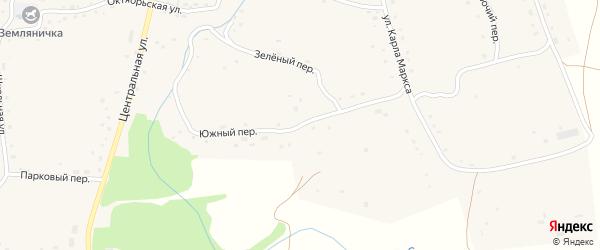 Южный переулок на карте села Сычевки с номерами домов