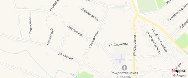 Степной переулок на карте села Соколово с номерами домов