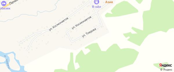 Улица Тоедова на карте села Усть-Кана с номерами домов