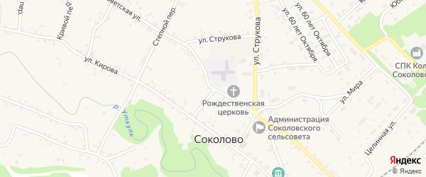 Советская улица на карте села Соколово с номерами домов