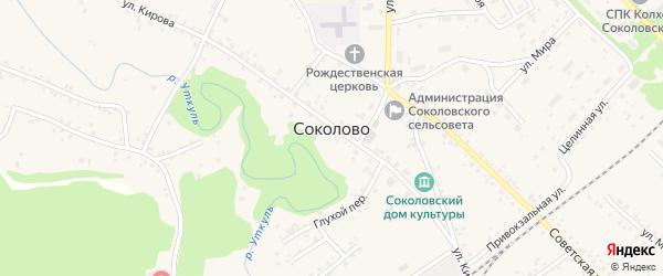 Аптечный переулок на карте села Соколово с номерами домов
