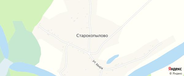Береговая улица на карте села Старокопылово с номерами домов